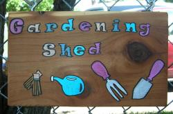 Gardening Shed Sign