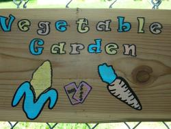 Vegetabe Garden Sign