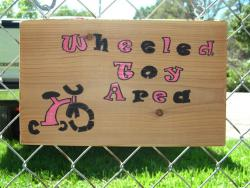 Wheeled Toy Area Sign